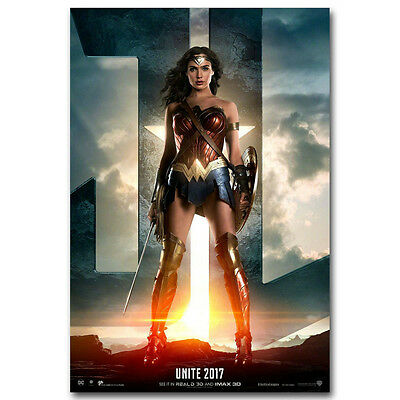 Wonder Woman Superheroes DC Movie Silk Poster 13x20 24x36 inch 004