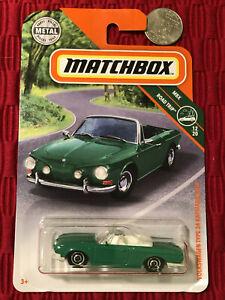 Matchbox 2019 VOLKSWAGEN TYPE 34 KARMANN GHIA Metal MBX Road Trip 12//20 Green