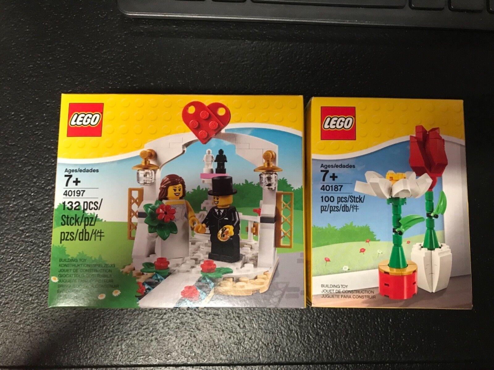 Lego 40197 & Lego 40187 Set New Sealed Wedding & pink