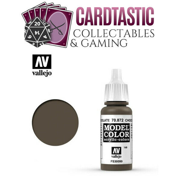 Vallejo Model Color Paint 17mL Chocolate Brown 70.872