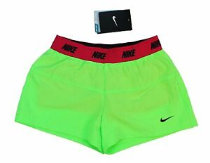 7da9fe8b71d8 Nike Girls Icon Woven 2 in 1 Running Shorts Green Pink Multiple ...