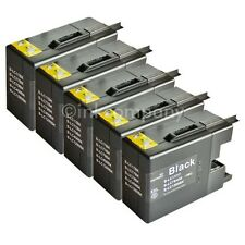 5 Brother black LC1280 XL für MFC-J5910DW MFC-J6510DW MFC-J6710DW MFC-J6910DW TO