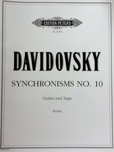 Guitar and Tape Davidovsky Synchronisms No.10