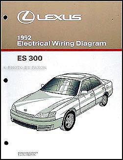 1992 Lexus ES 300 Electrical Wiring Diagram Manual NEW ...