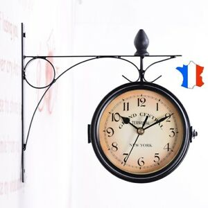 horloge murale hall de gare new york d coration originale cuisine salon garage ebay. Black Bedroom Furniture Sets. Home Design Ideas