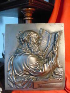 Sonstige Zierobjekte Genial Altes Relief Metallguss Eremit Gelehrter Philosoph Marke Buderus 1731 19,5x 17,3 Antiquitäten & Kunst