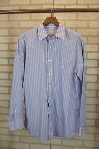 a9686f89 Brooks Brothers 346 Mens Shirt 16 - 4/5 Long Sleeve Btn Down Blue ...