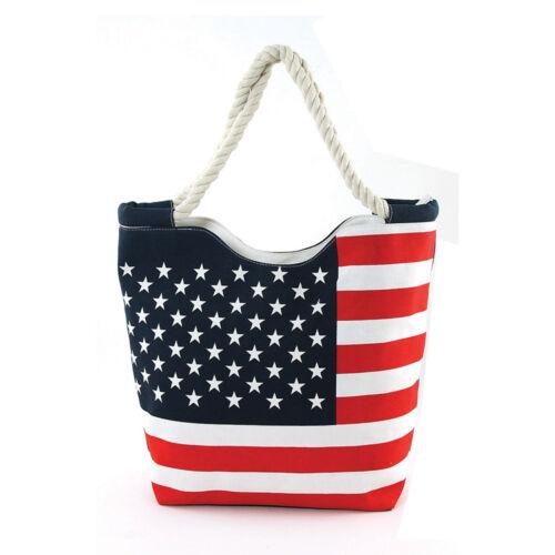 Nuovo Grande Zip Blu In Bianco Bandiera Tessuto Tela Americana Rosso Di Alto TTdq7nxHrw