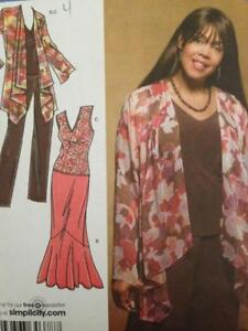 Simplicity-Sewing-Pattern-3894-Ladies-Misses-Jacket-Top-Skirt-Size-10-18-UC