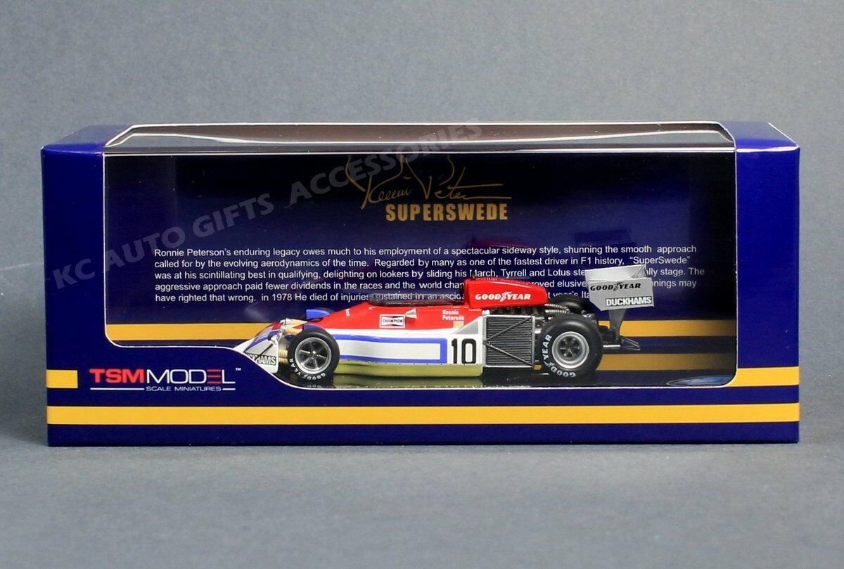1976 Ronnie Peterson Peterson Peterson March 761 Dutch Grand Prix 1 43 Scale TSM 154329 425d1f