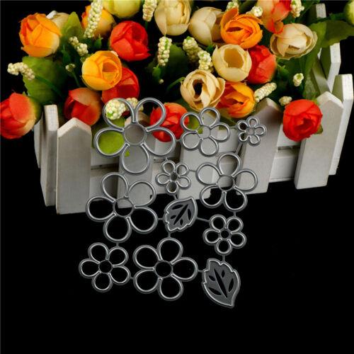 11Pcs Flower leaves Metal Cutting Die For DIY Scrapbooking Album Paper Cards HU