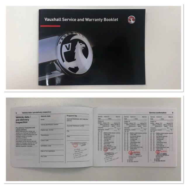 Vauxhall Meriva Service Book History Record Brand New Genuine No Stamps