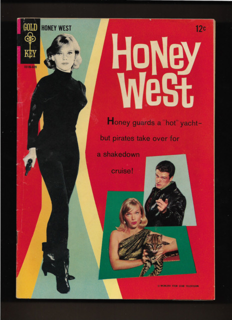"""1966 1st ISSUE """" HONEY WEST  """" TV 1960'S PHOTO COMIC GOLD KEY COMPLETE & ORIG."""
