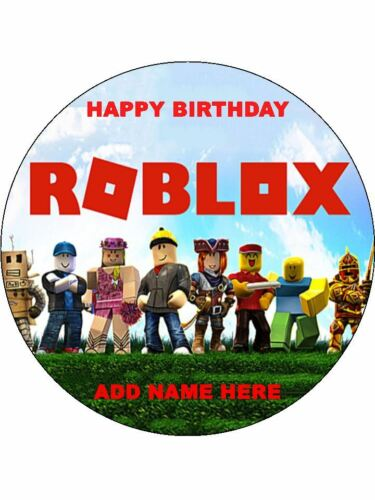 Roblox 7.5 East Peel Round Edible Icing Cake Topper