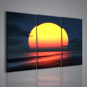 Quadro red spectacular sunset quadri moderni per for Quadri moderni per arredamento