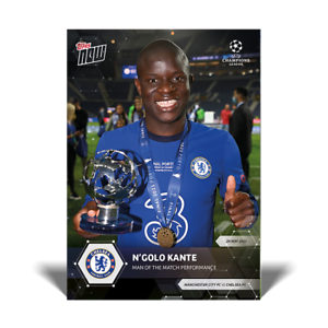 N'Golo Kante Chelsea FC UCL Topps Now 2020 2021 Card #83 UEFA Champions League