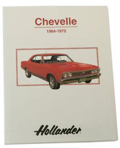 Auto Parts Interchange >> Details About Hollander Chevrolet Chevelle Auto Parts Interchange Manual 1964 1972
