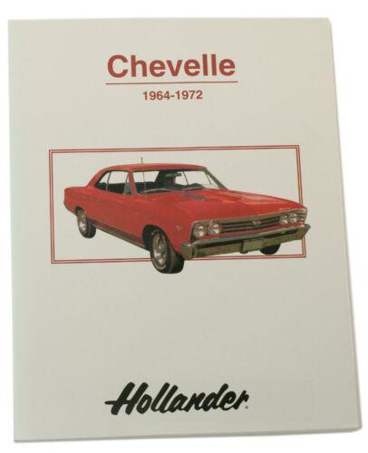 Hollander Chevrolet Chevelle Auto Parts Interchange Manual 1964-1972