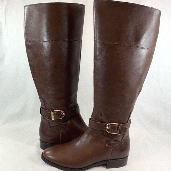 Cole Haan Women's Catskills Tall Riding Boot Chestnut Brown