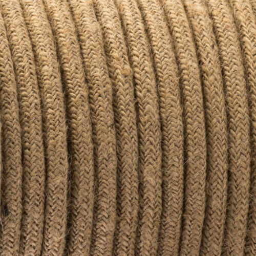 1M Round Vintage Wire Hemp Braided Lighting Cable Flexible 3 Core Lighting Cord