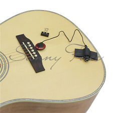 Classical Piezo Contact Microphone MIC Pickup For Guitar Banjo Red+Black