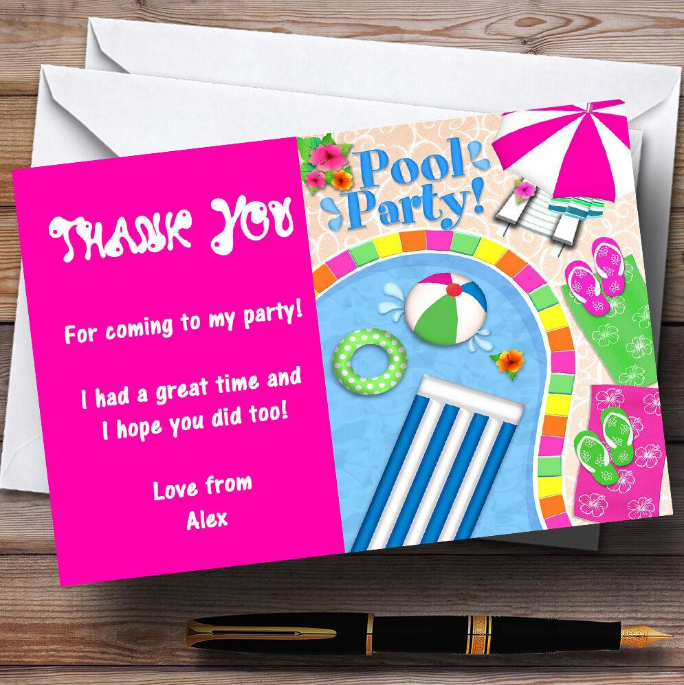 Rose cartes Chaud piscine d'été parti plage personnalisé cartes Rose remercieHommes t 188b52