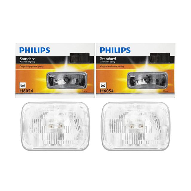 2 PCS Philips Headlight Bulb For 1988-1989 Acura Integra