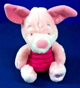 Piglet Disney Store Plush Doll Authentic Original Patch 11 Sitting