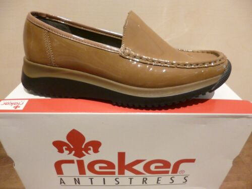 Ballerinas Brown Slippers Leather Soft Shoes Rieker Insole Trainers Low New 1qAxa5nH7