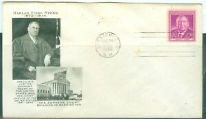 US-FDC-965-HARLAN-FISKE-STONE-SUPREME-COURT-CANCL-AUG-25-1948-NOT-ADDR