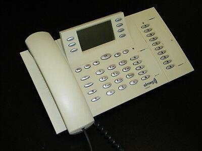 Elmeg CS400xt weiß ISDN Systemtelefon mit Erweiterung T400//2 vergilbt MwSt.