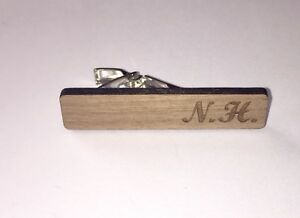 Mens Personalised Wooden Tie Clip/Pin