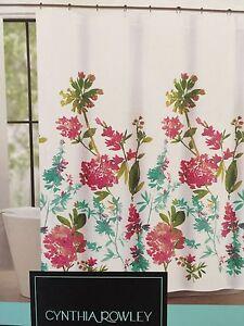 Image Is Loading Cynthia Rowley Fabric Shower Curtain Giacomo Wild Fiore