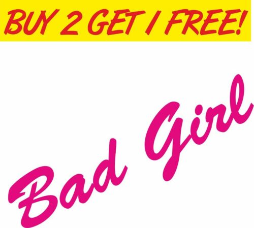 Bad Girl Pink Car Vinyl Sticker Graphic Decal Funny Drift