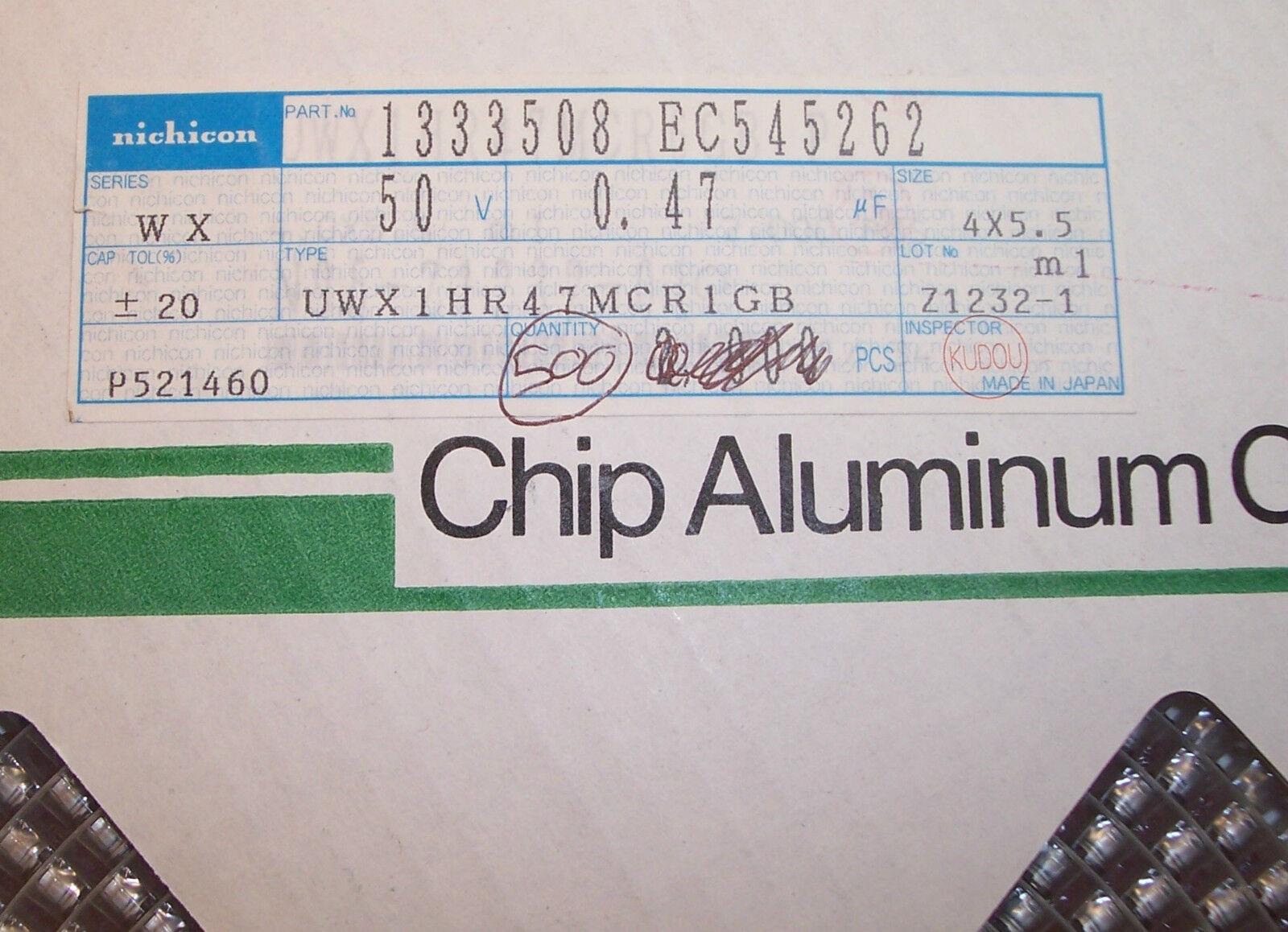 47uf 16V  6.3x5.5 SMD ELECTROLYTIC CAPACITORS UWX1C470MCL1GB ROHS 50 QTY