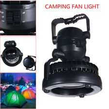 AM/_ 2 IN 1 TENT FAN LIGHT LED CAMPING HIKING GEAR OUTDOOR PORTABLE CEILING LAMP