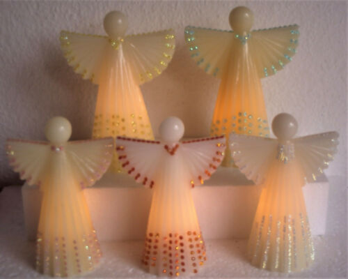 Elambia flammenlose Kerzen filigrane Engel mit Timer zur Wahl Outletpreis