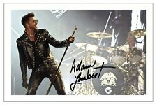 ADAM LAMBERT SIGNED PHOTO PRINT AUTOGRAPH QUEEN