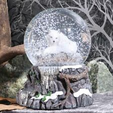 Nemesis Now Guardian of the North Snowglobe by Lisa Parker Wolf Christmas Gift