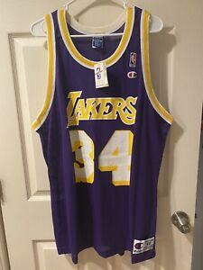 Details about Shaquille O'Neal LA Lakers Champion Basketball JERSEY Mens Size 48 NWT Shaq Kobe