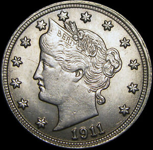 1911-Liberty-V-Nickel-GEM-BU-CONDITION-A314