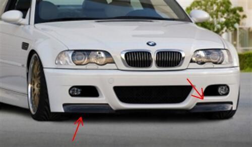 BMW E46 front splitters Mtech CSL front bumper corner splitters GT M3 99-05