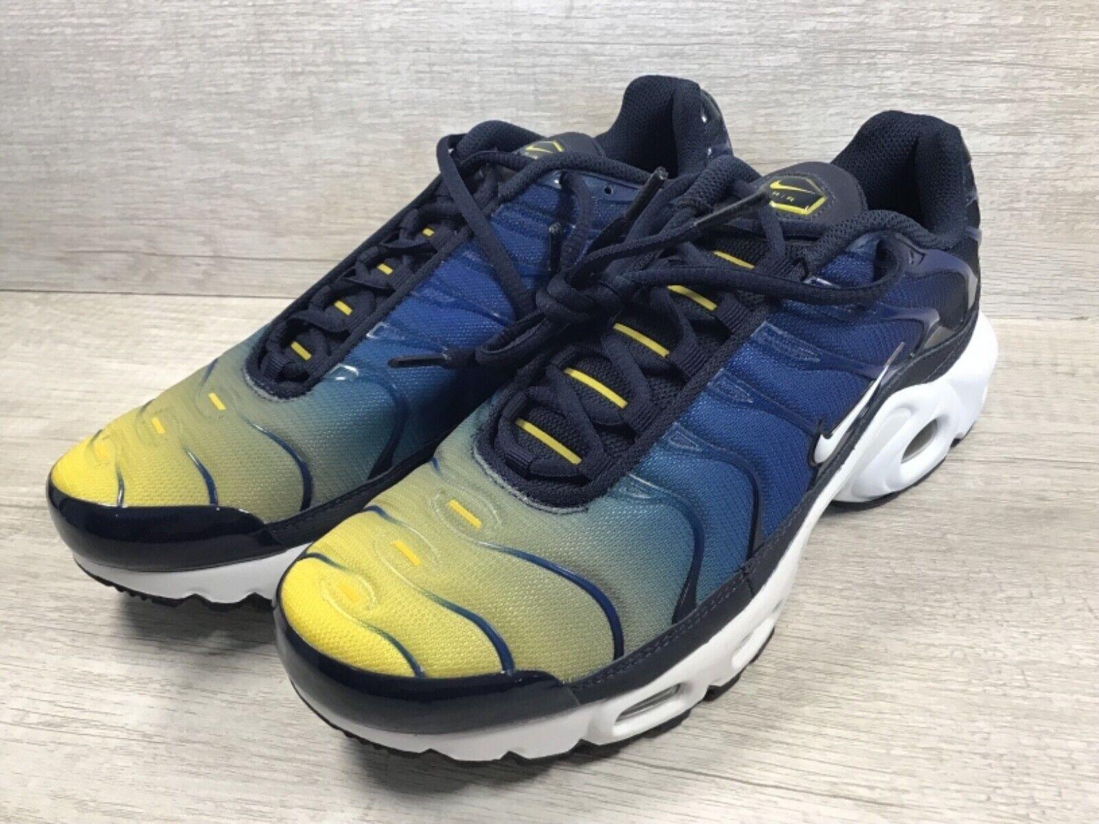4ebb18fd6f Men's Nike Air Max Plus TN Gradient Running shoes. bluee Yellow 852630-407  SZ