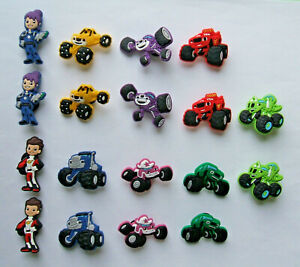 SHOE-CHARMS-D1-inspired-by-TRANSPORT-MONSTER-TRUCKS-18MT-Pack-of-18
