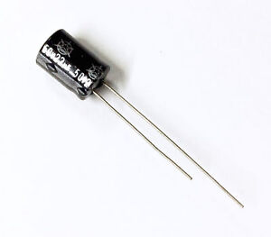 Condensatore Elettrolitico 0,22uF 63V 85°C Radiale 4x8mm Samhwa