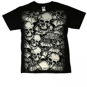 2b9a01edc07 Image is loading Camiseta-AVENGED-SEVENFOLD-Rock-Chico-LOGO-TOTAL-PRINT-