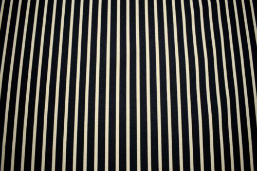 """100/% Cotton Upholstery Drapery Canvas Duck Black Beige Printed Strip 54/""""W Fabric"""