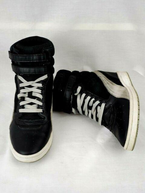 Black Sneaker Boot Hidden Heel Size 9.5