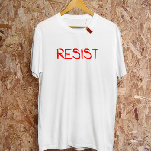Resist T-Shirt Premium Disobey UK Anonymous Anarchy Punk Unisex Tee S-5XL