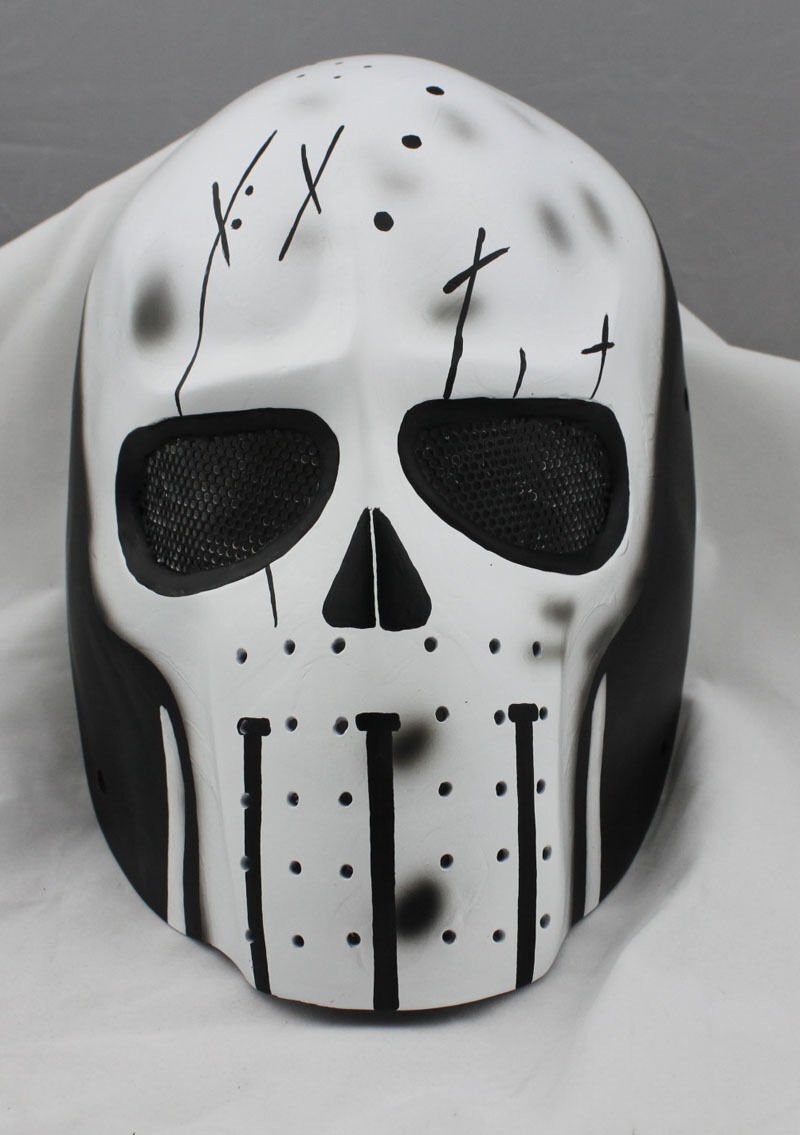 Full Face Mask Wire Mesh Prossoection Airsoft Paintbtutti Skull Mask PROP M00617